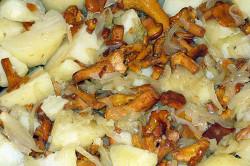 Лисчки с картошкой