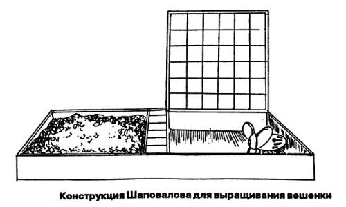 Схема конструкции для выращивания вешенок