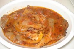 Вешенки в томатном соусе