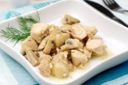Куриное филе с шампиньонами для худеющих