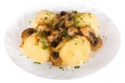 Приготовление картофеля с грибами