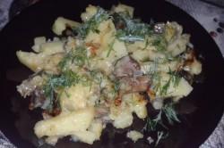 Маслята жаренные с картофелем